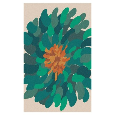 Parson Blue Area Rug Rug Size: Rectangle 2' x 3'