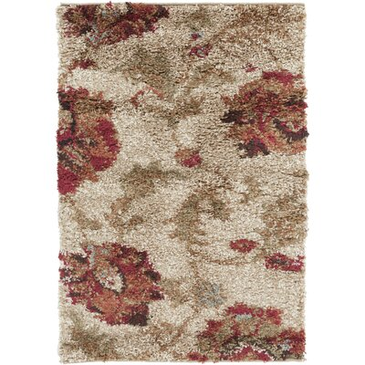 Igaba Feather Gray Area Rug Rug Size: 2 x 3