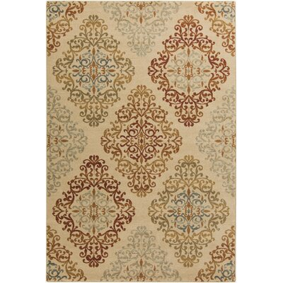 Ventanas Beige Area Rug Rug Size: Rectangle 710 x 910