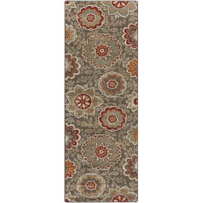 Rebekah Chocolate Area Rug Rug Size: Runner 27 x 73