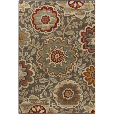 Rebekah Chocolate Area Rug Rug Size: 53 x 73