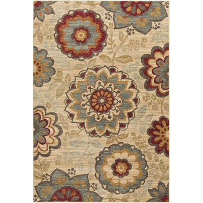 Rebekah Beige Area Rug Rug Size: Rectangle 53 x 73