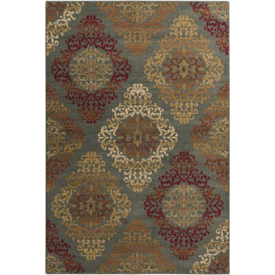 Ventanas Red/Moss Area Rug Rug Size: Rectangle 710 x 910