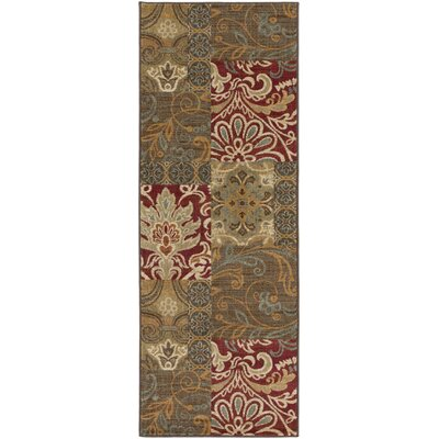 Basilia Chocolate Area Rug Rug Size: Runner 27 x 73