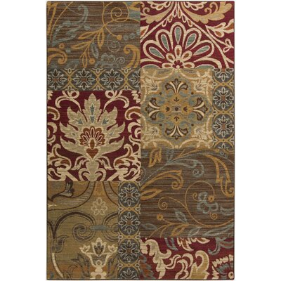 Basilia Chocolate Area Rug Rug Size: 7'10