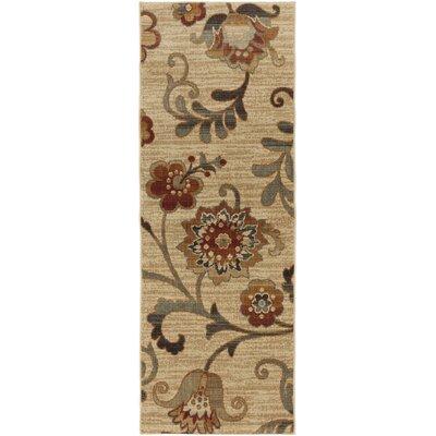Tilghman Taupe Floral Area Rug Rug Size: Runner 27 x 73