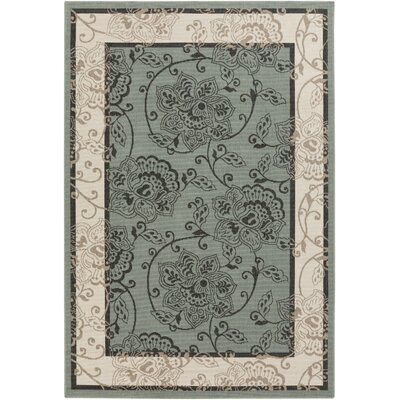 Pearce Moss/Ivory Indoor/Outdoor Area Rug Rug Size: Rectangle 6 x 9