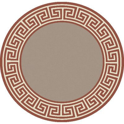 Pearce Rust/Taupe Indoor/Outdoor Area Rug Rug Size: Round 73