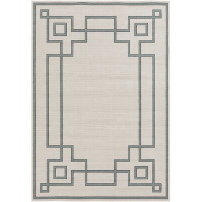 Pearce Machine Woven Beige/Moss Indoor/Outdoor Area Rug Rug Size: Rectangle 53 x 76