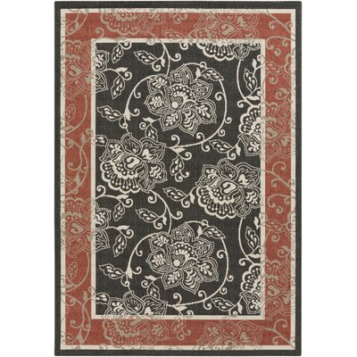 Pearce Taupe Indoor/Outdoor Area Rug Rug Size: Rectangle 76 x 109