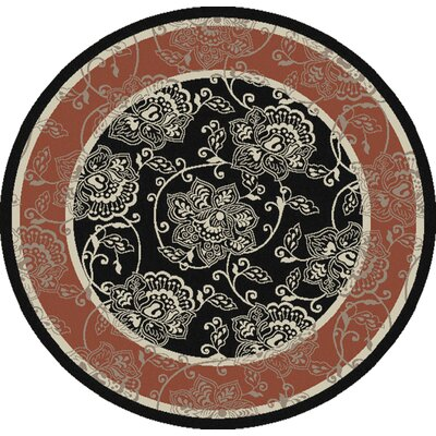 Pearce Taupe Indoor/Outdoor Area Rug Rug Size: Round 53