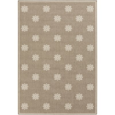Pearce Beige/Taupe Damask Area Rug Rug Size: Rectangle 53 x 76