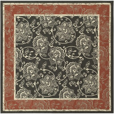 Pearce Taupe Indoor/Outdoor Area Rug Rug Size: Square 73