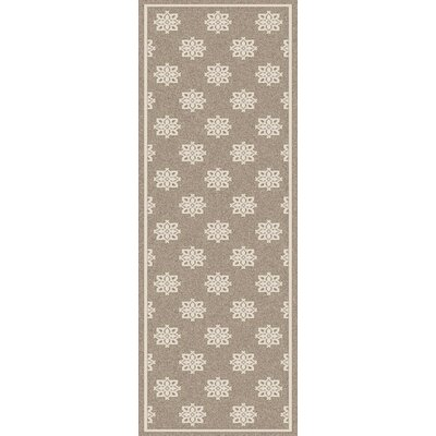 Pearce Beige/Taupe Damask Area Rug Rug Size: Runner 23 x 119