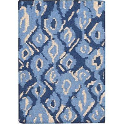 Mann Hand-Woven Sky Blue Area Rug Rug Size: 2 x 3