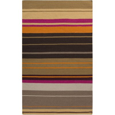 Fields Black Area Rug Rug Size: 5 x 8