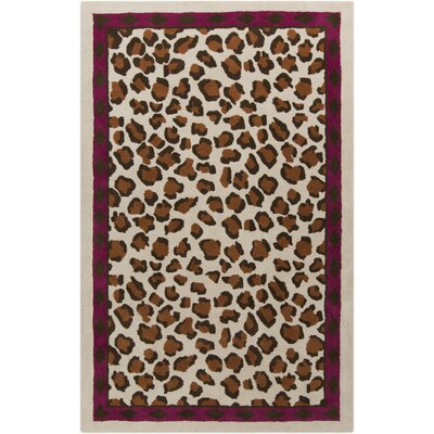 Mario Hand-Tufted Chocolate Area Rug Rug Size: 2 x 3