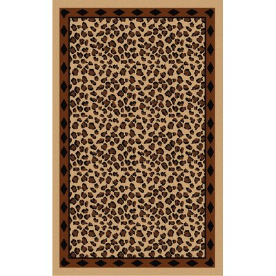 Mario Beige/Brown Animal Print Area Rug Rug Size: 33 x 53