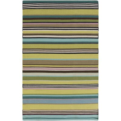 Roberta Lime/Teal Area Rug Rug Size: Rectangle 5 x 8