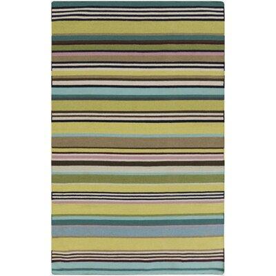 Roberta Lime/Teal Area Rug Rug Size: 5 x 8
