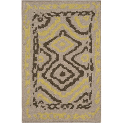 Audrina Taupe & Brown Geometric Area Rug Rug Size: Rectangle 33 x 53