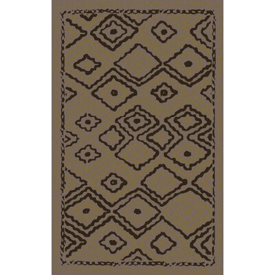 Audrina Taupe & Brown Geometric Area Rug Rug Size: Rectangle 5 x 8