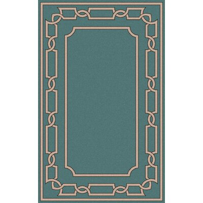 Clancy Teal Geometric Area Rug Rug Size: Rectangle 2 x 3