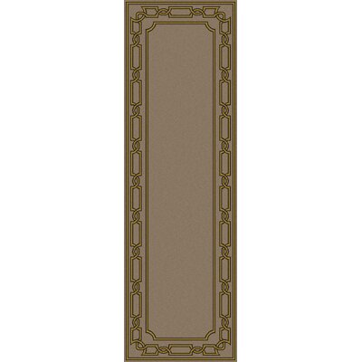 Clancy Taupe Geometric Hand Woven Area Rug Rug Size: Runner 26 x 8