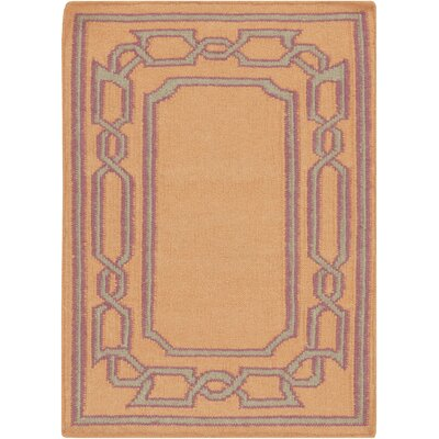 Clancy Tangerine Geometric Area Rug Rug Size: Rectangle 2 x 3