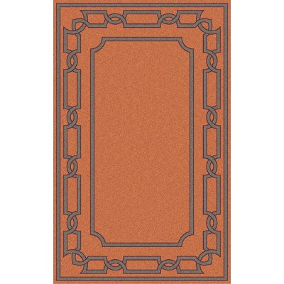 Clancy Tangerine Geometric Area Rug Rug Size: Rectangle 5 x 8