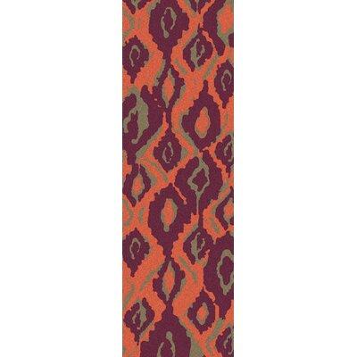 Mann Magenta/Tangerine Area Rug Rug Size: Runner 26 x 8