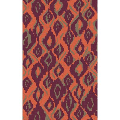 Mann Magenta/Tangerine Area Rug Rug Size: Rectangle 2 x 3