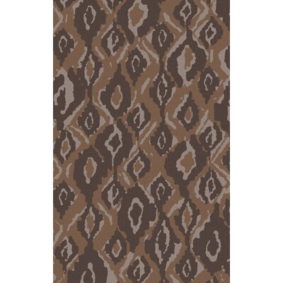 Mann Taupe Geometric Wool Area Rug Rug Size: Rectangle 5 x 8