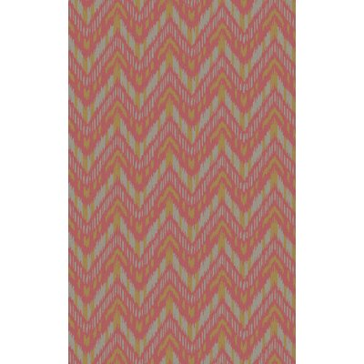 Crisler Coral Chevron Area Rug Rug Size: Rectangle 8 x 11