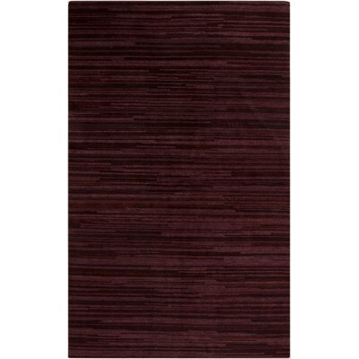 Alica Burgundy Striped Rug Rug Size: Rectangle 5 x 8