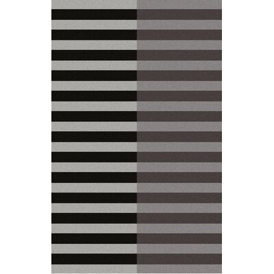 Marion Hand Woven Wool Black/Gray Area Rug Rug Size: Rectangle 2' x 3'