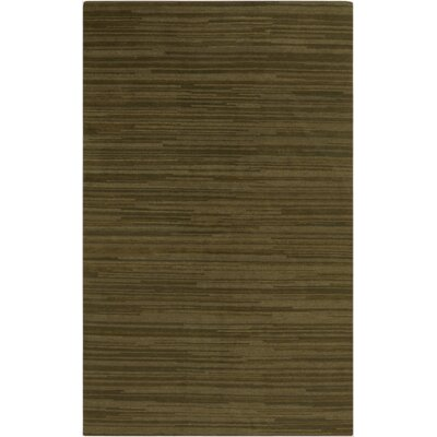 Alica Handmade Olive Stripe Area Rug Rug Size: Rectangle 8 x 11