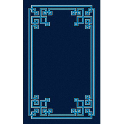 Eugenie Hand-Tufted Cobalt Area Rug Rug Size: 5 x 8