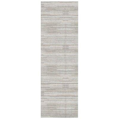 Alica Beige Stripe Area Rug Rug Size: Runner 26 x 8
