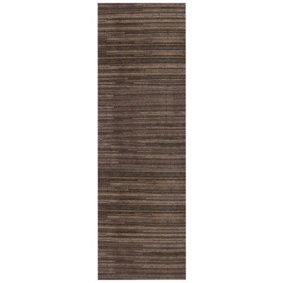 Alica Chocolate Rug Rug Size: Runner 26 x 8
