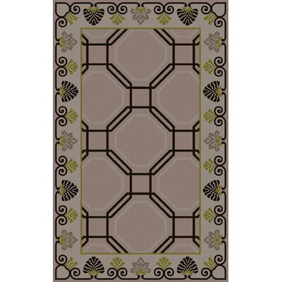 Vassar Hand-Tufted Taupe Geometric Area Rug Rug Size: Rectangle 2 x 3