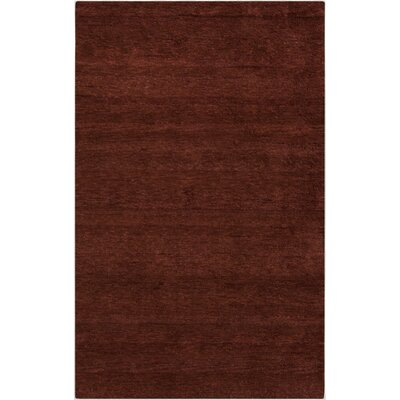 Beagle Burgundy Rug Rug Size: Rectangle 8 x 11