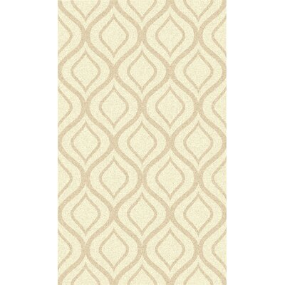 Avian Hand-Woven Ivory Geometric Area Rug Rug Size: Rectangle 36 x 56