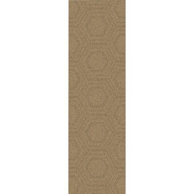 Kabru Mocha Geometric Rug Rug Size: Runner 26 x 8
