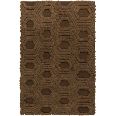 Burchfield Mocha Geometric Rug Rug Size: Rectangle 36 x 56