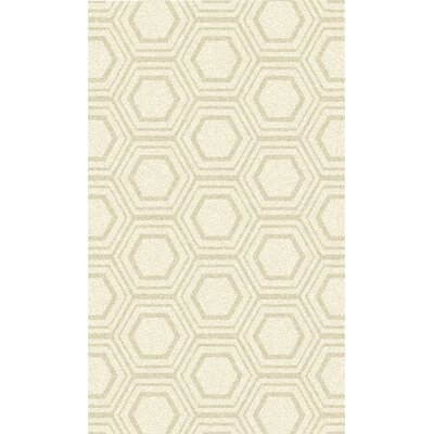 Burchfield Ivory Geometric Hand Woven Rug Rug Size: Rectangle 8 x 11