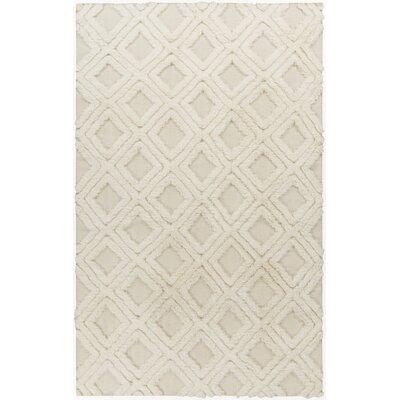 Kabru Ivory Geometric Rug Rug Size: 5 x 8