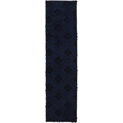 Audington Navy Rug Rug Size: Runner 26 x 8