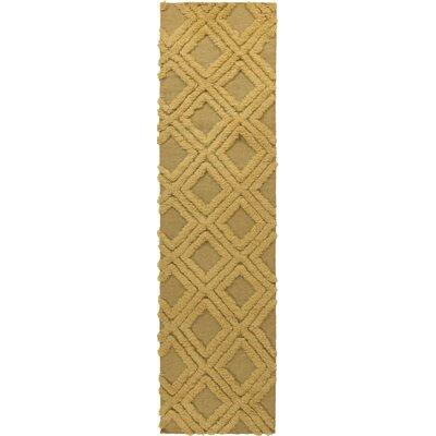 Crittenden Gold Geometric Rug Rug Size: Runner 26 x 8