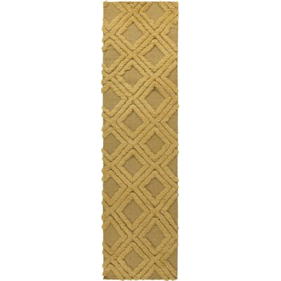 Kabru Gold Geometric Rug Rug Size: Runner 26 x 8
